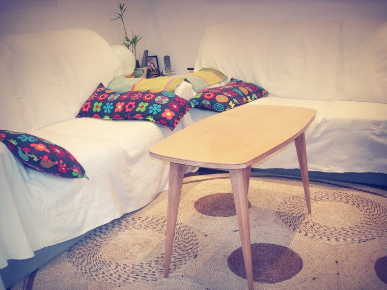 Mesa auxiliar, restauración de muebles