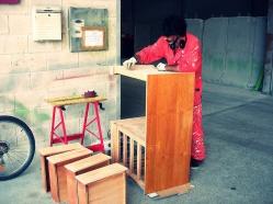 Lijado fino madera, restauración de muebles