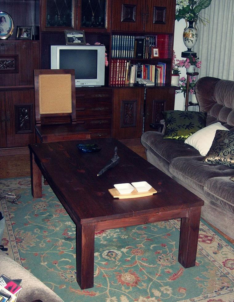 Mesa de salón, restauración de muebles