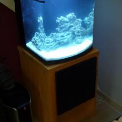 mueble de acuario, construccion en madera