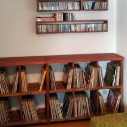 Mueble para discos de vinilo, estantes para CDs, construcción de mueble en madera
