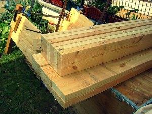 Construcción mueble de madera, ensamblado con espigas