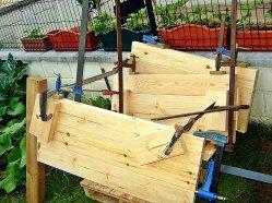 Contrucción mueble de madera, ensamblado con espigas