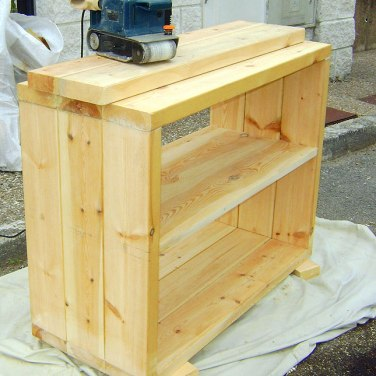 Aparador de madera, construcción de muebles
